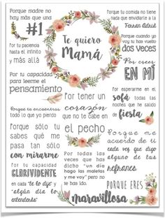 feliz dia de la madre - Zinc Tutorial and Ideas Ideas Para Fiestas, Mom Day, Mother And Father, Mom Birthday, Happy Mothers Day, Happy Mom, Diy Gifts, Diy And Crafts, Projects To Try