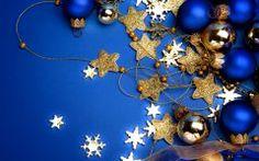 Blue Christmas Wallpaper for Desktop. Tropical Christmas Ornaments, Merry Christmas Images, Hallmark Christmas Ornaments, Elegant Christmas, Blue Christmas, Christmas Colors, All Things Christmas, Christmas Holidays, Christmas Decorations