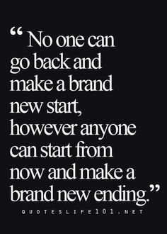 So true! I think this is one of my favorite things about my business! Your past doesn't matter! YOU are in charge of writing your own story. Make it a good one.