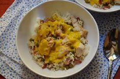 Cuchillito y Tenedor: Curry de pollo y bacon.