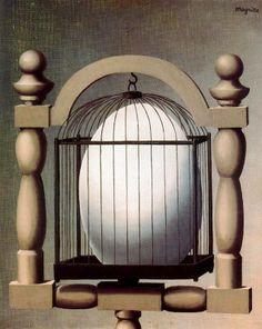 René Magritte, Las afiinidades selectivas, 1933. Óleo sobre lienzo. 41 x 33 cm. Colección particular, París, Francia