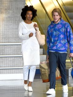 """celebritiesofcolor: """"Solange Knowles arriving at the airport for Paris Fashion Week """""""
