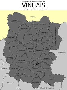 Freguesias do concelho de Vinhais