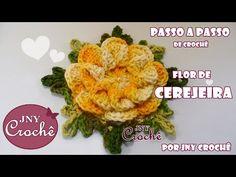 PAP Flor de Cerejeira   Remake   - JNY Crochê