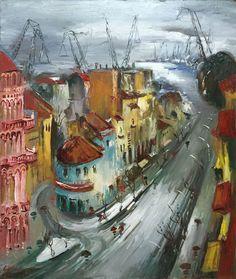 A port in Adriatic Sea Adriatic Sea, Paintings, Art, Art Background, Paint, Painting Art, Kunst, Performing Arts, Painting