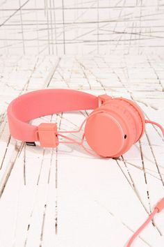 Urbanears Plattan Headphones in Coral at Urban Outfitters
