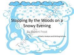 stopping by woods on a snowy evening english literature essay Communicability submissions must be primarily written in english,  stopping by woods on a snowy evening by  them in the woods on the darkest evening, pausing.