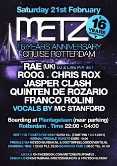 SA 21TH 2015 #Metz 16 YEARS ANNIVERSARY #rotterdam