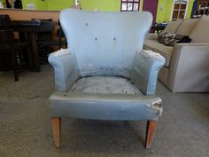 Armchair for upholstery project ------------------ £35 (pc937)