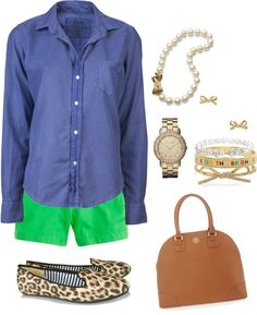 """""""Back to Summer"""" by classically-preppy ❤ liked on Polyvore"""