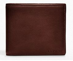 NWT Coach Men BLEECKER LEGACY LEATHER COMPACT ID WALLET 74345 BURGUNDY