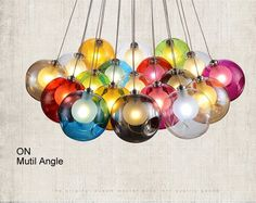 Creative Design Modern LED Colorful Glass Pendant Lights Lamps for Dining Room Living Room Bar Led G4 96 265V Glass Lights-in Pendant Lights from Lights & Lighting on Aliexpress.com | Alibaba Group