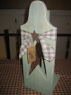 Primitive country paper towel holder kitchen by fixinitcountry, $17.95