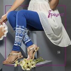 Shop Online for exclusive and enchanting collection of Blue Printed Legging, available in Blue made with Cotton Fabric. Global Shipping and Custom Stitching & tailoring services available @ IshiMaya Cotton Leggings, Printed Leggings, Churidar, Salwar Kameez, Indian Ethnic, Ethnic Fashion, Desi, Your Style, Cotton Fabric