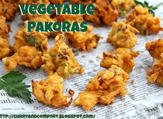 Curry and Comfort: Vegetable Pakoras (Vegetable Fritters)