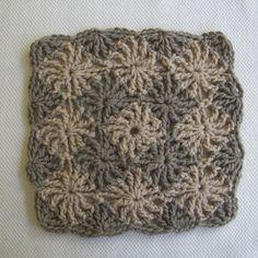 crochelinhasagulhas: Square cinza em crochê