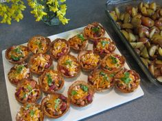 Recipe Crispy bread tarts with beans and salsa, by Balvinder - Petitchef