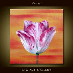This is an Original Modern Japanese Painting direct from my Studio    -Title: KAORI (scent)  -Size: 8x8x3/4 inches  -Surface: Gallery back wrapped