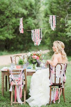 bohemian inspired reception, photo by Lindsey Stump Photography http://ruffledblog.com/austin-styled-bridal-session #bohemian #boho #weddingreception