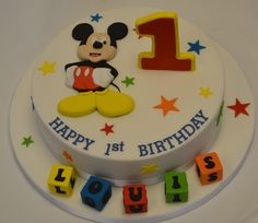 Excellent Image of Mickey Mouse First Birthday Cake . Mickey Mouse First Birthday Cake Mickey Mouse Birthday Cake Celebration Cakes Cakeology Mickey And Minnie Cake, Mickey Mouse First Birthday, Mickey Cakes, Cupcake Birthday Cake, Birthday Cake Decorating, Cool Birthday Cakes, Birthday Ideas, 2nd Birthday, Mickey Mouse Cake Decorations