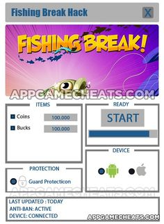 Fishing Break Cheats & Hack for Bucks & Coins  #Simulation #Strategy http://appgamecheats.com/fishing-break-cheats-hack/