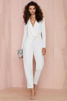 Nasty Gal Swipe Right Drape Jumpsuit | Shop What's New at Nasty Gal