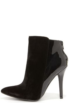 Dynamic Duo Black Pointed High Heel Booties at Lulus.com!