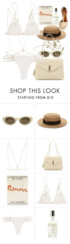 """""""Untitled #10357"""" by nikka-phillips ❤ liked on Polyvore featuring Elizabeth and James, Forever 21, River Island, Yves Saint Laurent, Fresh and Charlotte Olympia"""
