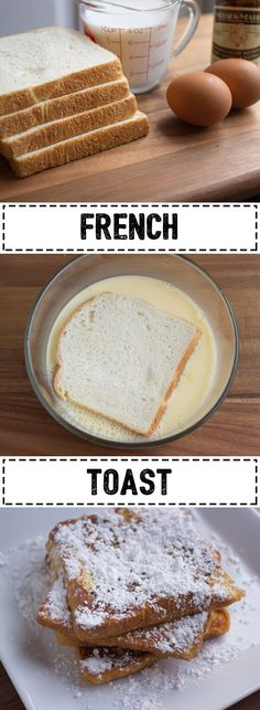 Classic French Toast just how your grandmother made it! Muffin Recipes, Brunch Recipes, Breakfast Recipes, Breakfast Ideas, Brunch Dishes, Health Breakfast, Breakfast Dishes, Milk Sandwich, Good Food