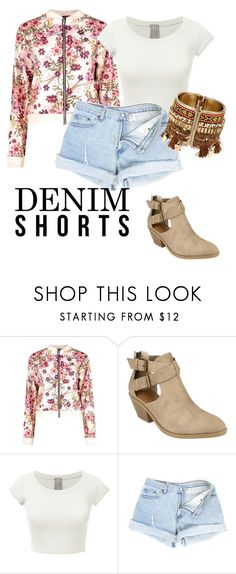 """keep it cool"" by casualcuidado on Polyvore featuring jeanshorts, denimshorts and cutoffs"