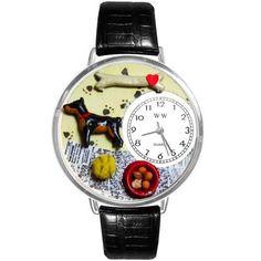 Doberman Pinscher Watch in Silver (Large)