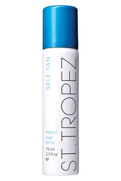 """Why the pros love it: """"For an instant tan, I use this not just on the legs but on the whole body except the face. It's great for adding color quickly and it dries in a snap. I find a tan helps give the illusion of a more toned body, which comes in useful on swimwear and lingerie shoots. To avoid blotches, dry brush the skin before getting into the shower as this method really exfoliates and buffs the skin better than wet scrubs."""" —Charlie Green  St. Tropez Perfect Legs Spray, $18…"""