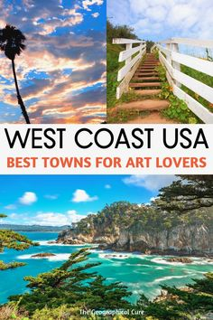 Fancy a road trip or weekend getaway in California? Want to leave the big city and discover some small(er) hidden gem towns in California perfect for art lovers? A California road trip is one of the easiest and best ways to see California without the hassle of crowds. These tony towns are chock full of museums, galleries, poetry slams, and festivals. They make perfect day trips from San Francisco, Los Angles, or San Diego.   #California #CaliforniaItineraries #roadtrip #art #homeschool #LA
