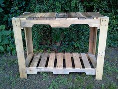 Pallets Outdoor Table Bench