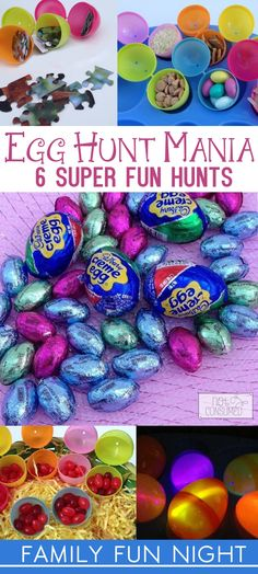 Looking for a twist on the traditional easter egg hunt? These 6 super fun egg hunts are perfect for your next family fun night or easter party!