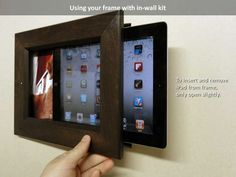 picture frames for ipad | insert your iPad in frame open frame slightly and slide in your iPad ...