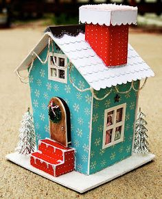 Mel Stampz: Wee Houses (124 links: templates, tutorials, etc.) Lots and lots of great house patterns and templates!!!