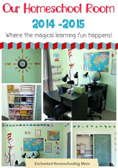 Our Homeschool Room 2014 -2015 - Enchanted Homeschooling Mom