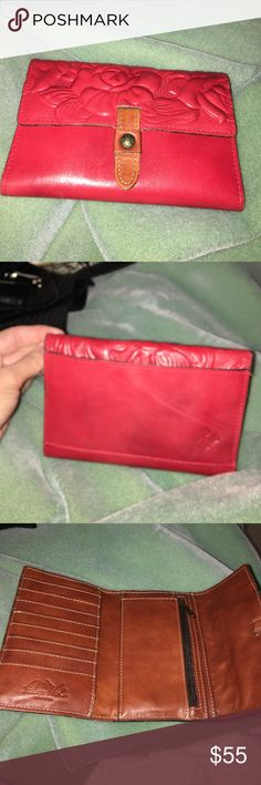 Patricia Nash wallet Red Patricia Nash wallet. Inside is spacious and back also has a pocket . Patricia Nash Bags Wallets