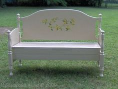 maple bed headboard bench This would look SO great on my wrap around porch!