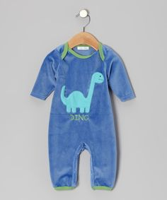 Take a look at this Blue Dinosaur Playsuit on zulily today!