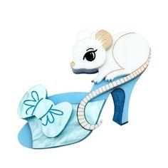 Peppy Chapette - Dainty Slipper Mouse brooch