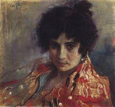 Portrait of an Unknown, 1895, Valentin Serov