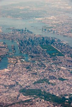 Beautiful aerial view from New York