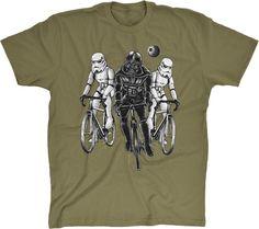 Star Bikers Darth Vader Storm Troopers Men's Cotton T-Shirt