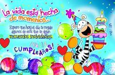 45 Feliz Cumpleaños Amor con Frases bonitas, Mensajes y Felicitaciones Happy Birthday Cards, Birthday Wishes, Love Store, Paper Book, Happy B Day, Easter Eggs, Smurfs, Birthdays, Greeting Cards