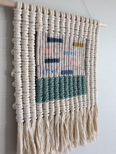 Woven macrame wall hanging strips by KateAndFeather on Etsy