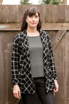 @seamworkmag Oslo Cardigan in a plaid wool from @moodfabrics
