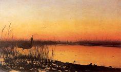 """Chełmoński, - Koncert żab - 1890 """"Frog concert"""""""