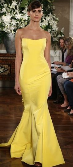 Spring 2013 bridal market bridesmaid dresses by Romona Keveza 13 Yellow Wedding Dress, Yellow Dress, Elegant Dresses, Pretty Dresses, Formal Dresses, Glamorous Dresses, Modern Bridesmaid Dresses, Romona Keveza, Mellow Yellow